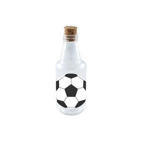 Garrafinha de Plastico 50ml com Tampa Rolha - Festa Futebol - 10 Unidades - Rizzo Embalagens