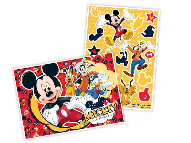 Kit Decorativo com Apliques Festa Mickey- 07 unidades - Regina - Rizzo Festas