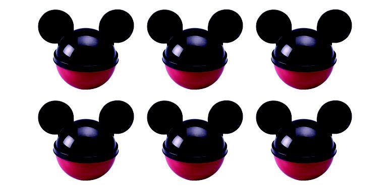 Pote de Plástico com Tampa em Formato de Orelha Mickey - 50ml - 06 Unidades - Plasútil -  Rizzo Festas