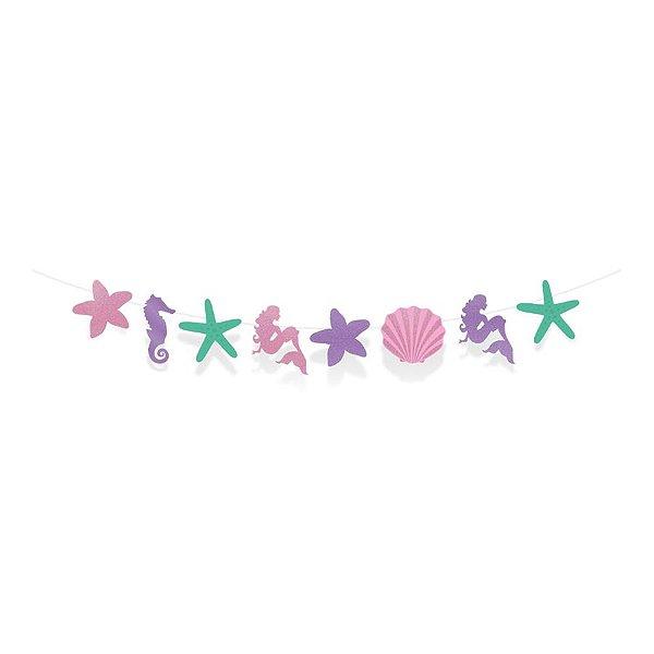 Faixa Decorativa - Festa Sereia - 01 unidade - Cromus - Rizzo Festas