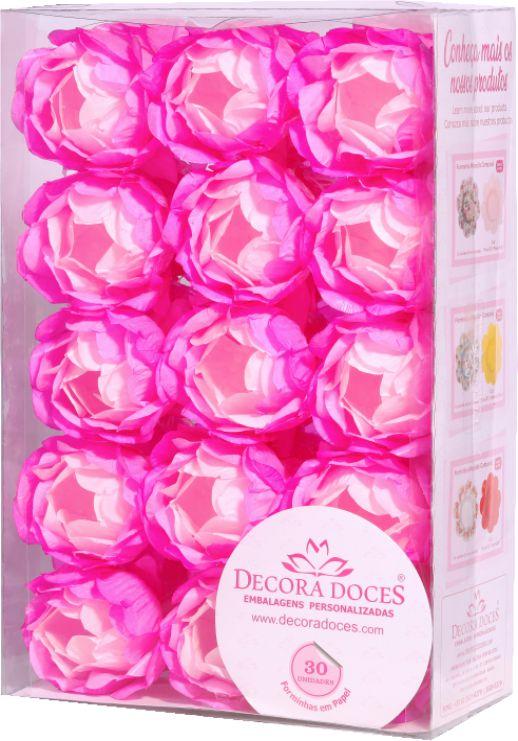 Forminha para Doces Finos - Bela Degradê Rosa - 30 unidades - Decora Doces - Rizzo Festas