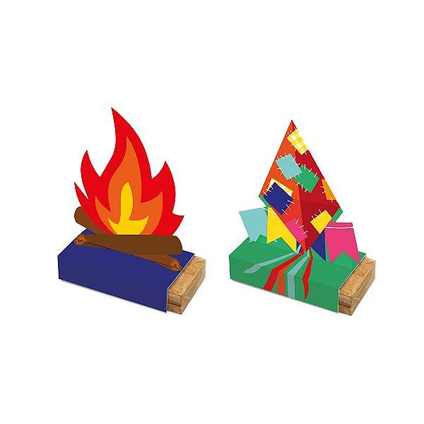 Caixa Paçoquita Arraiá Festa Junina - 08 Unidades - Cromus Festas - Rizzo Festas