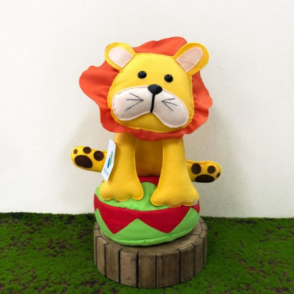 Leão Circo de Feltro - 01 Unidade - Pé de Pano - Rizzo Festas