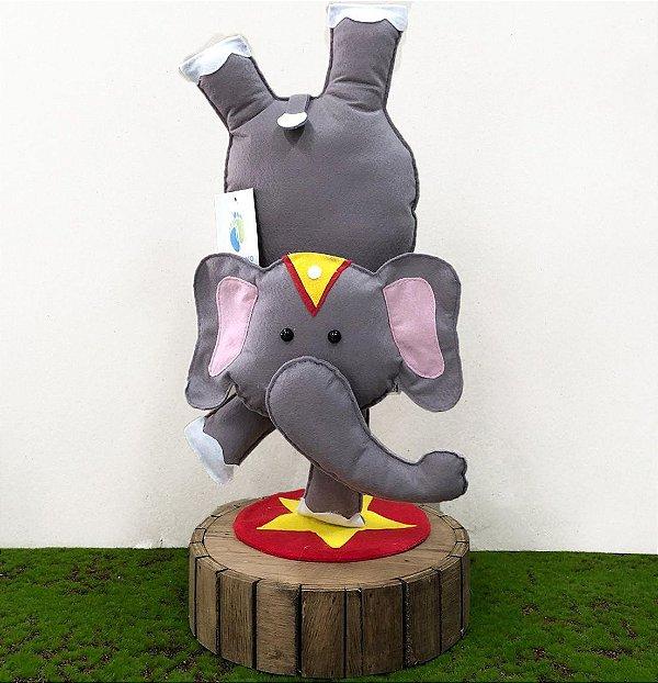 Elefante de Circo em Feltro - 01 Unidade - Pé de Pano - Rizzo Festas