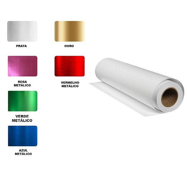 Vinil Adesivo Metálico - 60cm x 30cm - 01 Unidade - Rizzo Embalagens