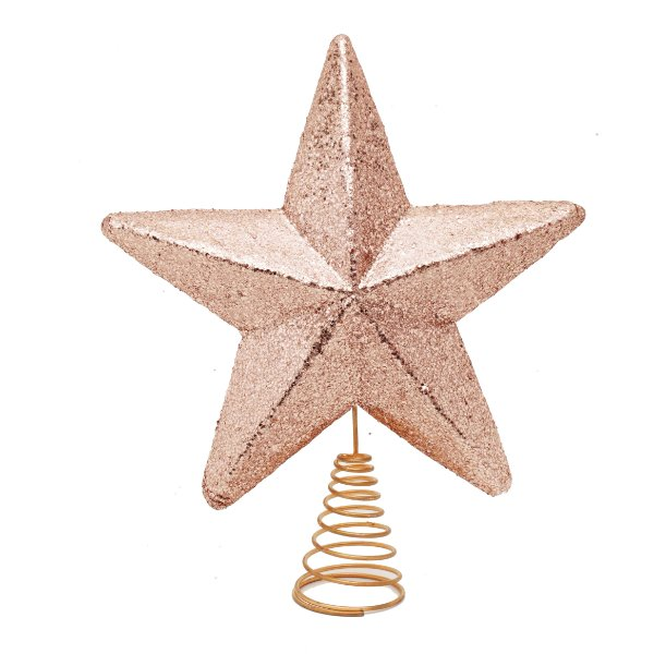 Ponteira estrela Rose Gold 33cm - 01 unidade - Cromus - Rizzo Embalagens
