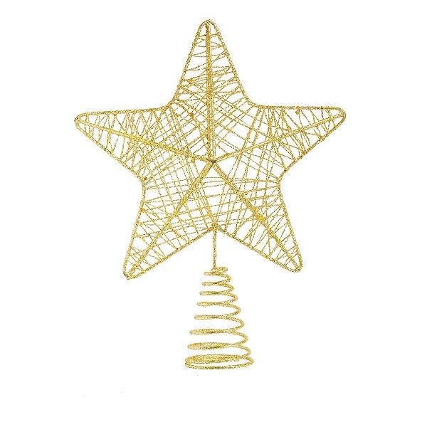 Ponteira Estrela Ouro 24cm - 01 unidade - Cromus - Rizzo Embalagens