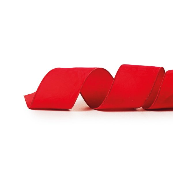Fita Lisa Vermelho 6,3cm - 01 unidade 9,14m - Cromus Natal - Rizzo Embalagens