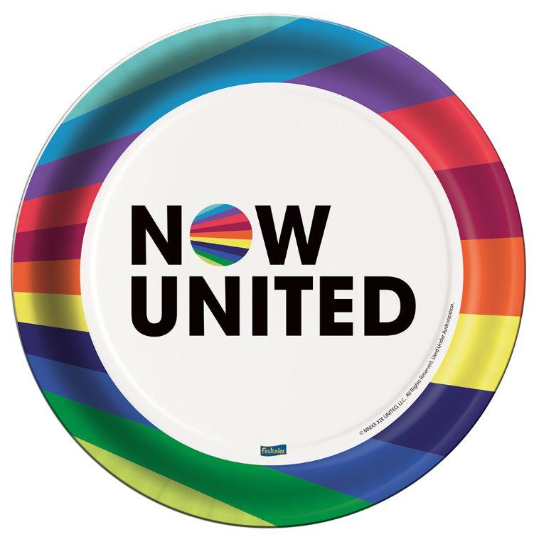 Prato de Papel 200ml Festa Now United - 08 Unidades - Festcolor - Rizzo Festas