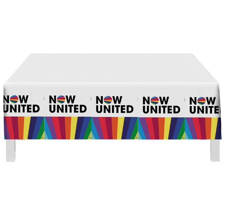 Toalha de Mesa Festa Now United - 01 Unidade - Festcolor - Rizzo Festas