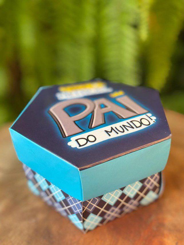 Caixa Explosão Divertida Azul Paizão para 7 doces Ref. 1806 - 02 unidades - Erika Melkot Rizzo Embalagens