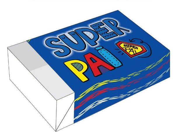 Caixa Divertida para 6 doces Super Pai Ref. 1788 - 10 unidades - Erika Melkot Rizzo Embalagens