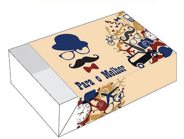 Caixa Divertida para 6 doces Pai 50 Clássico Ref. 1796 - 10 unidades - Erika Melkot Rizzo Embalagens