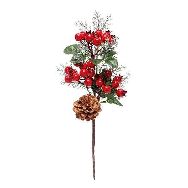 Pick Natal Vermelho/Verde - 01 unidade - Cromus Natal - Rizzo Embalagens