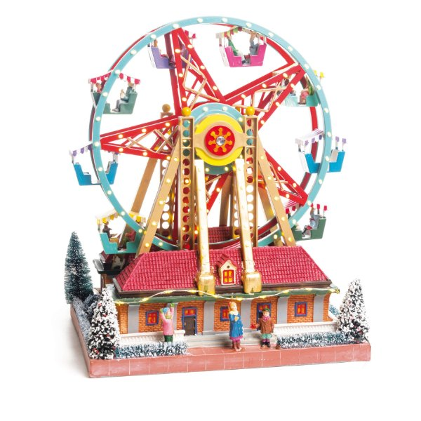 Cenário com Movimento Natal Roda Gigante Bivolt Som Luz e Movimento - 01 unidade - Cromus Natal - Rizzo Embalagens