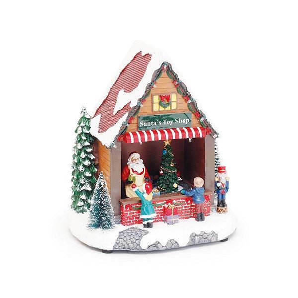 Cenário com Movimento Natal Loja Brinquedos Som Luz e Movimento - 01 unidade - Cromus Natal - Rizzo Embalagens