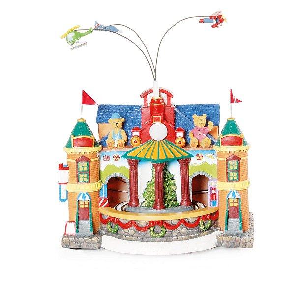Cenário com Movimento Natal Fábrica Brinquedo Som Luz e Movimento - 01 unidade - Cromus Natal - Rizzo Embalagens