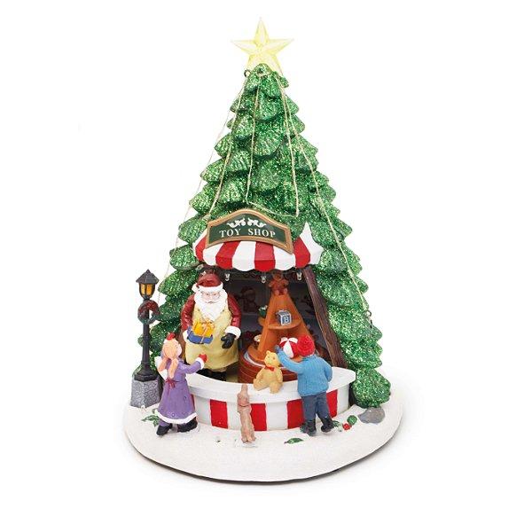 Cenário com Movimento Natal Loja Arvore Som Luz e Movimento - 01 unidade - Cromus Natal - Rizzo Embalagens