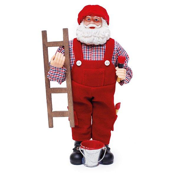 Noel Pintor Vermelho/Branco 28cm - 01 unidade - Cromus Natal - Rizzo Embalagens