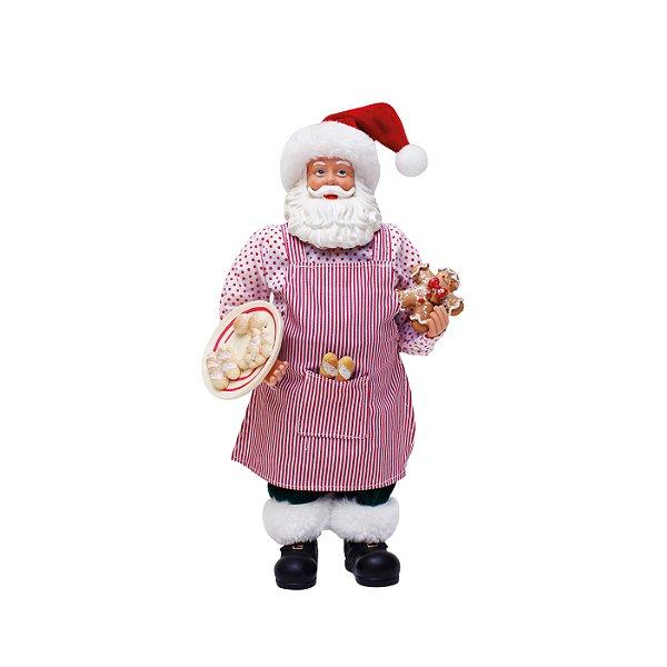 Noel Decorativo com Avental 28cm - 01 unidade - Cromus Natal - Rizzo Embalagens