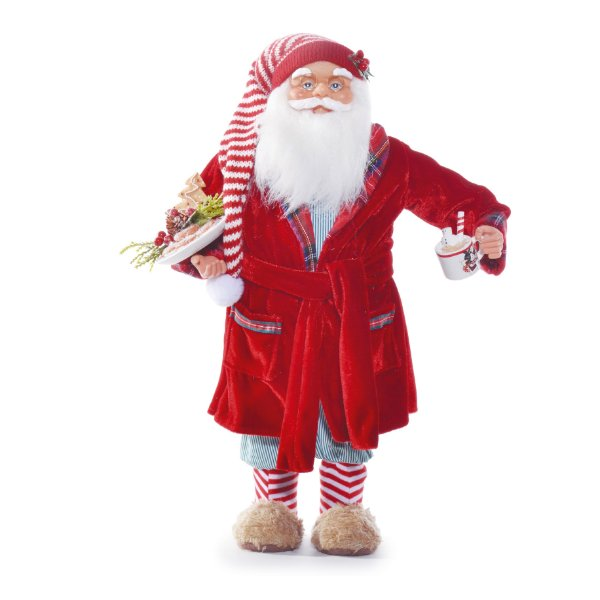 Noel Decorativo com Roupão Vermelho 45cm - 01 unidade - Cromus Natal - Rizzo Embalagens