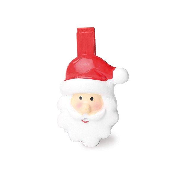 Prendedor de Natal Noel Vermelho - 06 unidades - Cromus Natal - Rizzo Embalagens