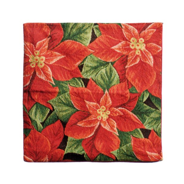 Capa para Almofada Poinsettia 45cm - 01 unidade - Cromus Natal - Rizzo Embalagens