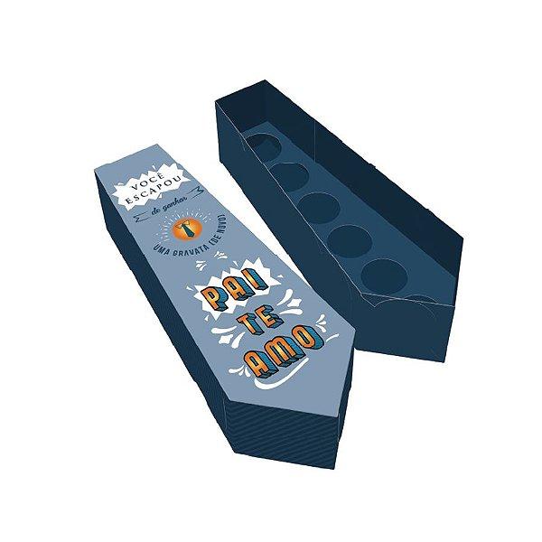 Caixa Gravata Surpresa (6 Doces) Ref.2747 - 10 unidades - Rizzo Embalagens