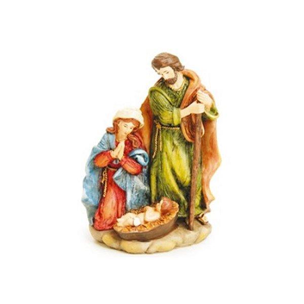 Sagrada Família de Resina - 01 unidade - Cromus Natal - Rizzo Embalagens