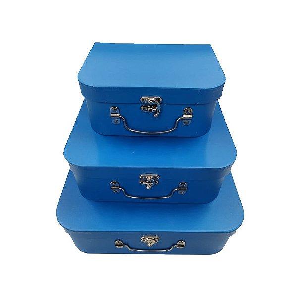 Kit Maleta Azul - 03 Unidades - Rizzo Embalagens