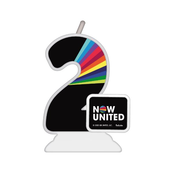 Vela Temática Festa Now United N°2 - 01 Unidade - Festcolor - Rizzo Festas
