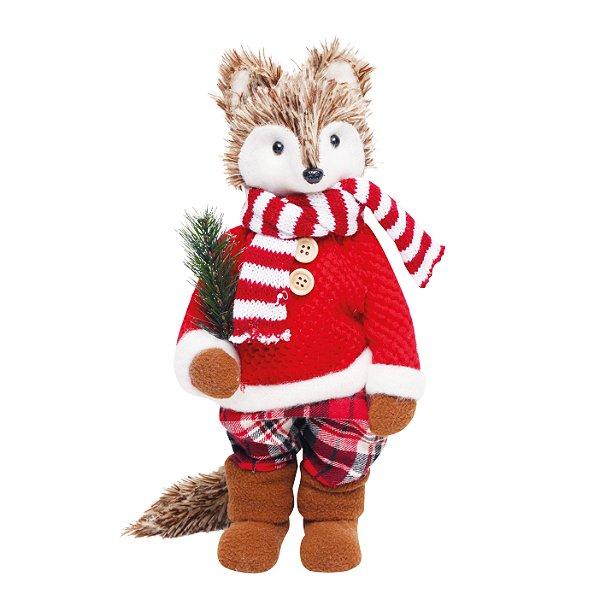 Raposa Calça Xadrez 30cm - 01 unidade - Cromus Natal - Rizzo Embalagens