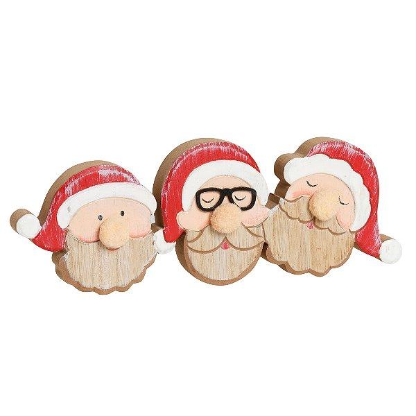 Noel em Madeira Natal - 01 unidade - Cromus Natal - Rizzo Embalagens