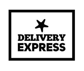 Carimbo Artesanal Delivery Express c/ Estrela - M - 6,0x4,5cm - Cod.RI-033 - Rizzo Embalagens
