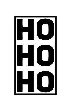 Carimbo Artesanal HoHoHo - M - 3,7x7,0cm - Cod.RI-037 - Rizzo Embalagens