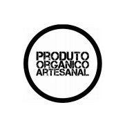Carimbo Artesanal Produto Organico Artesanal - G - 6,0x6,0cm - Cod.RI-007 - Rizzo Embalagens