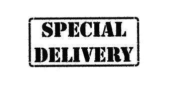 Carimbo Artesanal Special Delivery - M - 6,0x2,7cm - Cod.RI-041 - Rizzo Embalagens