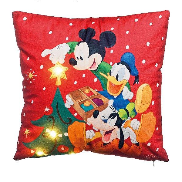 Almofada LED Mickey e Donald Vermelho Disney - 01 unidade - Cromus Natal - Rizzo Embalagens