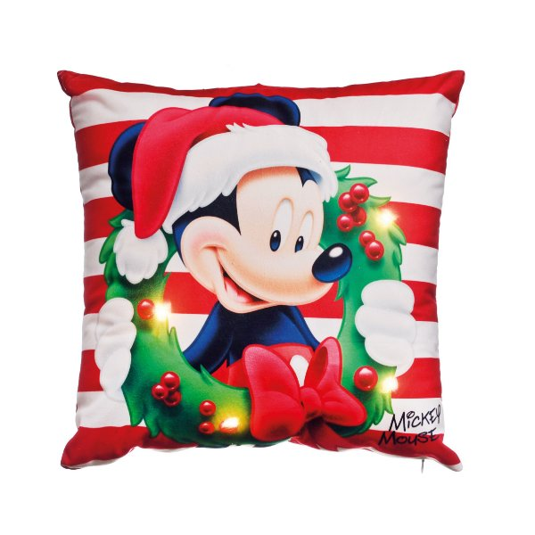 Almofada LED Mickey Vermelho Disney - 01 unidade - Cromus Natal - Rizzo Embalagens