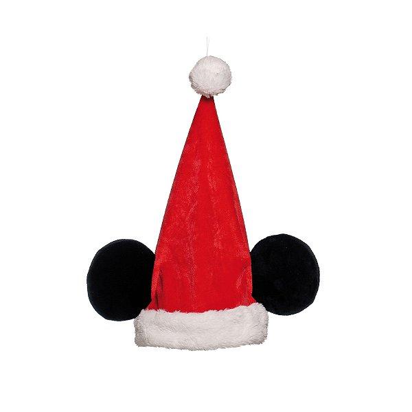 Gorro Mickey Noel Vermelho/Branco/Preto - 01 unidade - Natal Disney - Cromus Natal - Rizzo Embalagens
