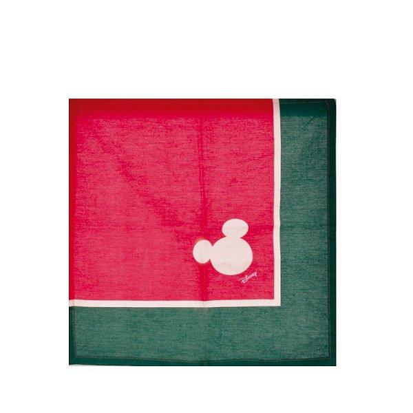 Guardanapo de Tecido Mickey Natal Disney Vermelho/Verde 40x40cm - 04 unidades - Cromus Natal - Rizzo Embalagens