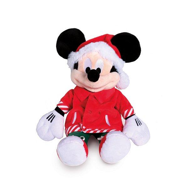 Mickey Pelúcia Camiseta com Bolso 35cm Natal Disney - Cromus Natal - Rizzo Embalagens