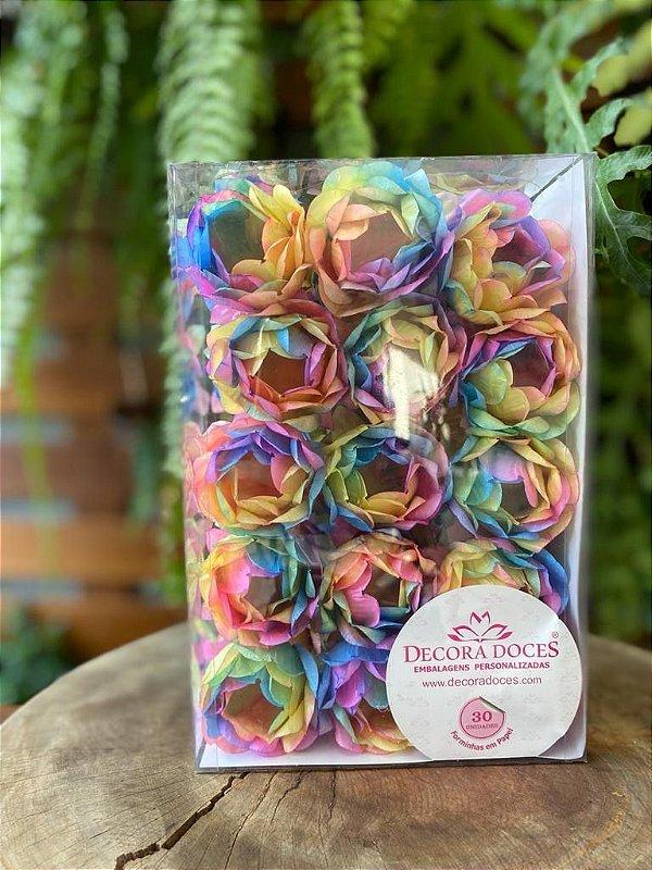 Forminha para Doces Finos - Bela Tie Dye - 30 unidades - Decora Doces - Rizzo Festas
