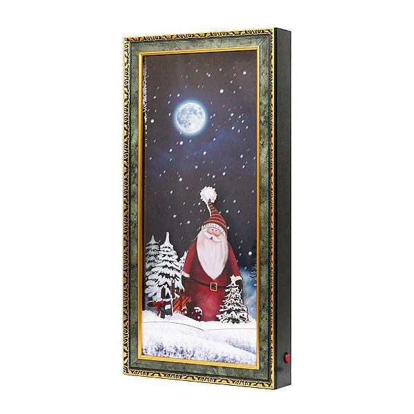 Quadro Decorativo com Papai Noel 79cm - 01 unidade - Cromus Natal - Rizzo Embalagens