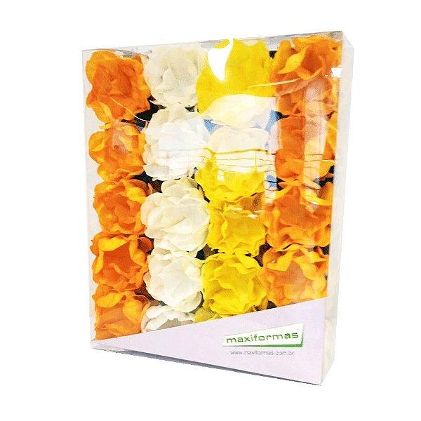 Forminha para Doces Finos - La Belle Mista 3 Tons Amarelo - 40 unidades - MaxiFormas Rizzo