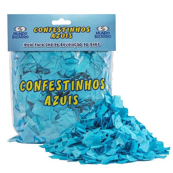 Lança Confete Confestinhos Azul- 120g - Mundo Bizarro