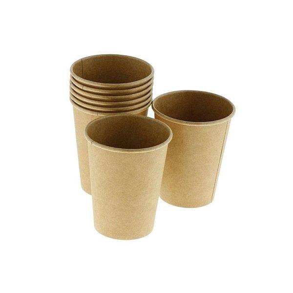 Copo de papel Kraft Biodegradável - 40 un - 210 ml - Silver Festas