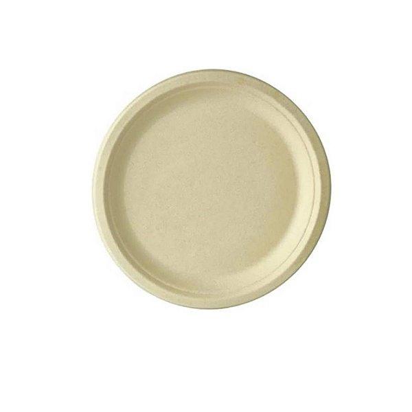 Prato Papel Biodegradável em Bagaço de Cana - 10 un -  18 cm - Silver Festas