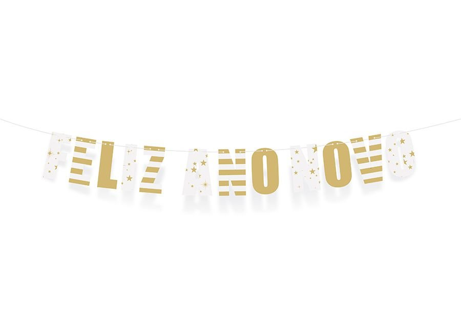 Faixa Decorativa Feliz Ano Novo - 01 unidade - Cromus Reveillon - Rizzo Embalagens