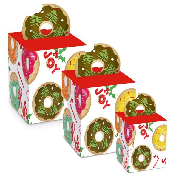 Caixa Panetone Pop Up Donuts - 10 unidades - Cromus Natal - Rizzo Embalagens